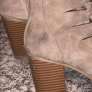 Rampage Shoes - Rampage lace up open toe booties